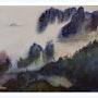Brumes sur les falaises, en Asie. Maï Laffargue