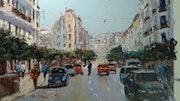 Alger paysage de ville. Mhamed Saci