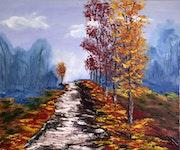 Camino otoñal. Santi Goñi