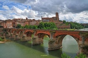 Albi the red, sight from the Tarn.
