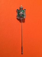 Anstecknadel aus Silber/Gold mit Diamanten besetzt, Wappen von Kasan (Rußland).