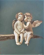 Petite «causerie» entre deux anges. Elisabeth Sauvager