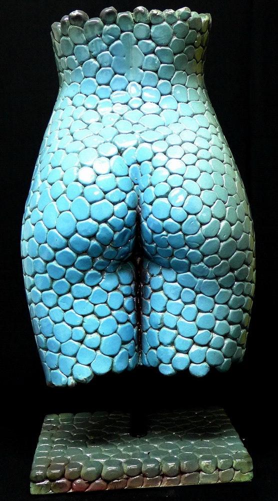 Blue pebbles, Louise jeune modèle des beaux arts, 19 ans. Malte Lehm Team Laronze