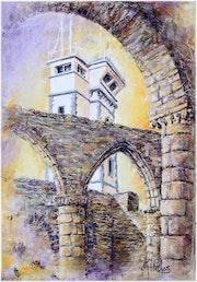 Pastel saint mathieu abbaye semaphore finistere.