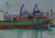 Dans le port d'Izmir.