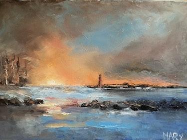 Couchant sur le port. Raoul Mary
