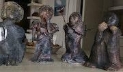 Famille de statuettes. Atelier Des Nuances