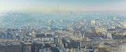 Puzzle panoramique et atmosphérique sur les toits de Paris.