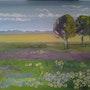 Frühlingserwachen, Öl auf Leinwand, Cathlyn de Burga, oil on canvas. Cathlyn De Burga