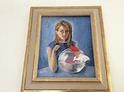 Jeune fille au poisson. Martine Aznavour
