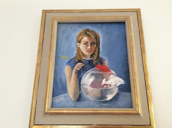 Jeune fille au poisson. Aznavour Martine Aznavour