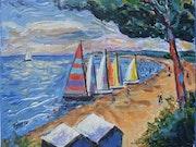 Une regate à Noirmoutier.