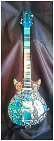 Customisation de guitare avec un luthier.