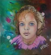 Célia - Portrait au pastel.