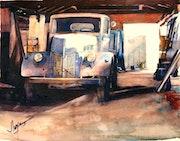 Le vieux camion Ford.