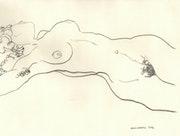 Femme nue (d'après Egon Schiele) 2016.