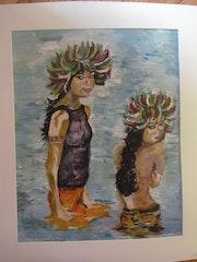 «Jeunes polynésiennes au bain».