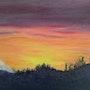 Coucher de soleil en montagne (Orcieres Merlette). Nicole Retureau