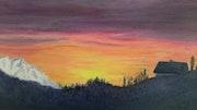 Coucher de soleil en montagne (Orcieres Merlette).