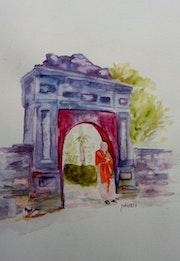 Une porte a Hue (Vietnam). Yokozaza