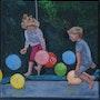 Jeux d'enfants : le trampoline. Cesar Luciano