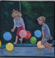 Jeux d'enfants : le trampoline.