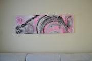 Art Déco gris/rose.