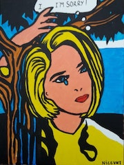 I am sorry style roy lichtenstein pop art.