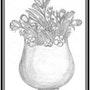 Un vase de fleurs. Abir Hassouna