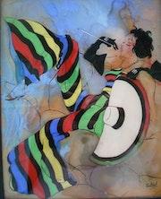 Peinture sous verre - Après la pluie….