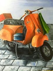 Vespa Naranja. Carlos Torres