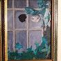 Chat regardant par une vitre cassée.. Martine Saint Etienne