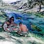 «Un coin dans la Vallée d'Ihlara». Jean-Pierre Brustier