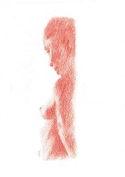 Sanguine nu femme de trois quart 0416.