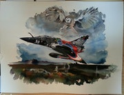Mirage 2000d 3/3 70eme anniversaire sur lmv. Forangeart F. Baldinotti Peintre De l'air
