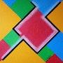Abstrait geometrique n° 22. Jacques Rosso