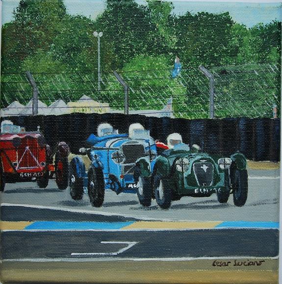 Course d'ancêtres au Mans classique. Cesar Luciano Pierre Giafferi Alias Cesar Luciano