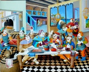 Repas de fete chez grandgousier. Jean Claude Buisson