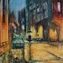Sous la pluie. Bernard Sannier