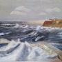 Rive bretonne - peinture à l'huile. Zarhwa