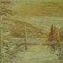 Unique painting Nature Landscape Painting Lake. Gabrielle