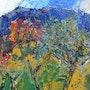 Soleil sur un verger de Provence. Jacques Donneaud