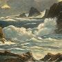 Grosse mer en Bretagne. Andre Blanc