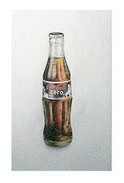 Botella de vidrio, Coca cola zero. Elis Bander Rosse
