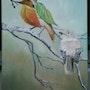 Bel oiseau et oiseau feuille. Isabelle Beffara