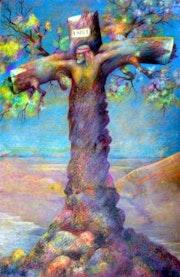 El Cristo Mestizo de América Categoria: Pintura Técnica: Oleo Soporte: Papel. Alberto Thirion Garcia