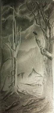 Atmosphère étrange :» le corbeau veille! ! ! ». M. Bodens