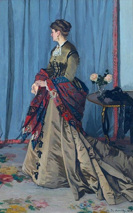 Claude Oscar Monet - «Portrait of Madame Gaudibert- 1868» - Reproduction. Jonh Lee John Lee