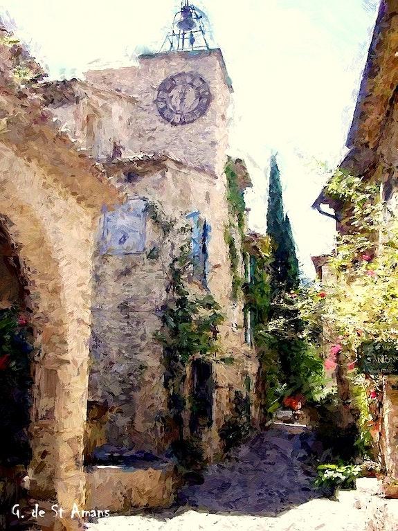 Provence - seguret. Gilbert De St Amans Gilbert De St Amans