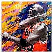 Michael Jordan, Original oil portrait painting.